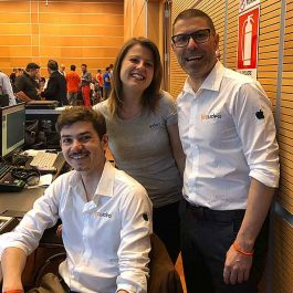 Il team di Stravideo per Funnel Marketing Live. Paolo Piagentini, Antonio Meraglia e Alice Zambon