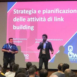 Alcuni dei relatori di Linkami Web Summit. Stravideo curava la trasmissioni in Live streaming per tutto l'evento